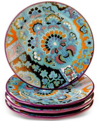 Tracy Porter Rose Boheme Set of 4 Dessert Plates