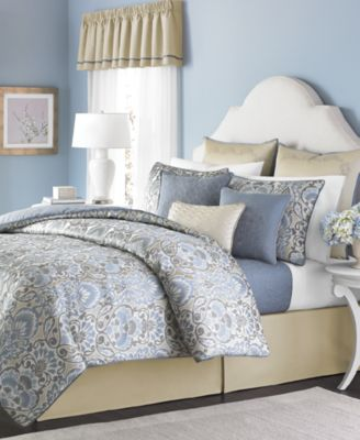 CLOSEOUT! Martha Stewart Collection Amora 22-Piece Queen Comforter Set, Only at Macy's