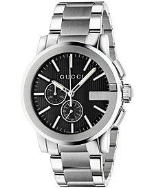 Gucci Men's Swiss Chronograph Stainless Steel Bracelet Watch 44mm