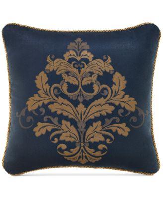 """Croscill Monroe Blue 18"""" Square Decorative Pillow"""
