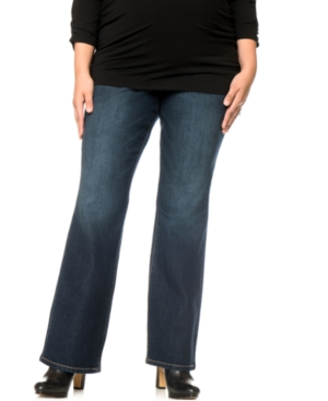 Motherhood Maternity Plus Size Midnight Wash Bootcut Jeans plus size,  plus size fashion plus size appare