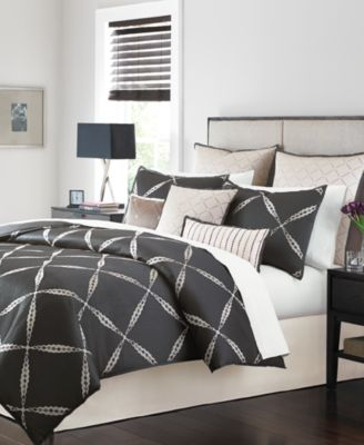 CLOSEOUT! Martha Stewart Collection Diamond District 9-Piece Queen Comforter Set, Only at Macy's