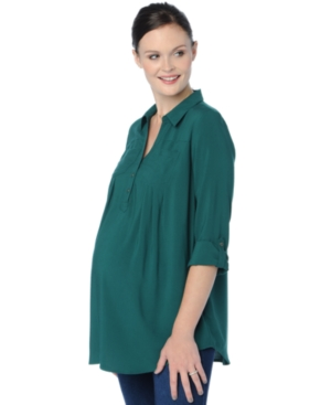 Motherhood Maternity Utility Shirt plus size,  plus size fashion plus size appare