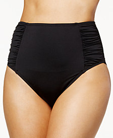 Bar III Solid High-Waist Bikini Bottoms, Created for Macy's
