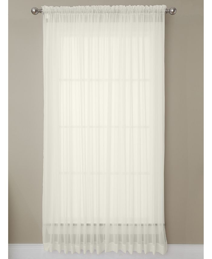 """Miller Curtains - Solunar Voile 54""""x 63"""" Insulating Sheer Curtain Panel"""