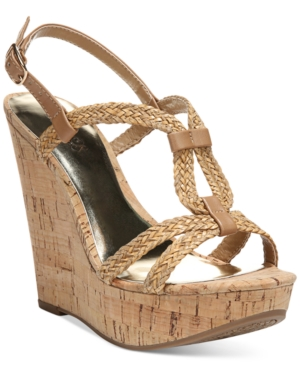 Carlos by Carlos Santana Barby Cork Wedge Sandals Women's Shoes