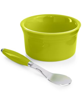 Fiesta 2-Piece Lemongrass Dip Bowl and Spreader Set