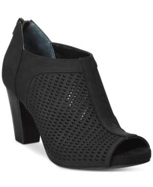 Giani Bernini Alanny Footbed Perforated Booties, Only at Macy's Women's Shoes