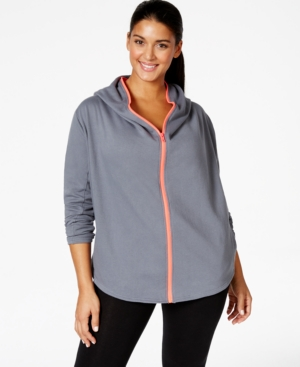 Jessica Simpson The Warm Up Plus Size Zip-Front Hoodie, Only at Macy's