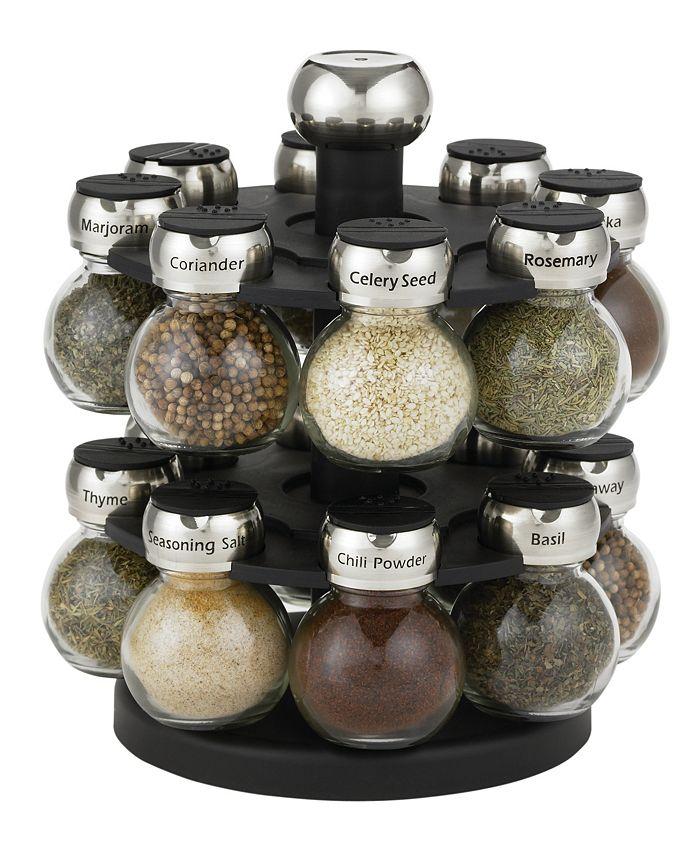 Martha Stewart Collection - Orbital Spice Rack, 16-Piece Set
