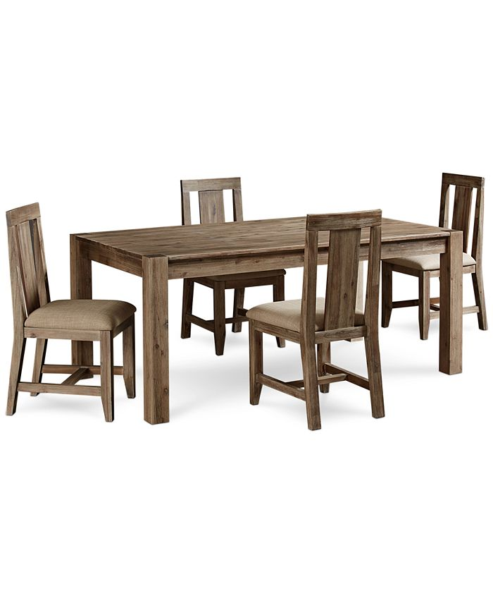 Furniture Canyon 5 Piece Dining Set Created For Macy S 72 Dining Table And 4 Side Chairs Reviews Furniture Macy S