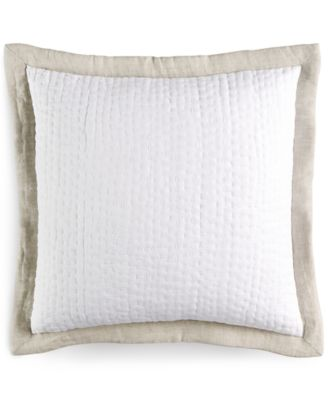 "Hotel Collection Linen Natural 18"" Square Decorative Pillow"