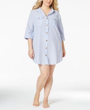 Dotti Plus Size Shirtdress Cover Up Women's Swimsuit