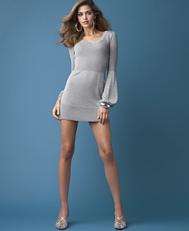 Macy*s - Women's - INC International Concepts® Sparkling Lantern-Sleeve Mini Dress from macys.com