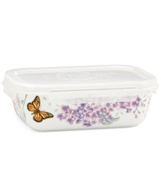 Lenox Porcelain Butterfly Meadow Rectangular Serve & Store Dish