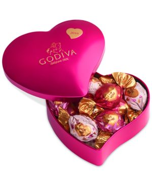 Godiva Valentine's Day 12-Pc. Individually Wrapped Chocolate Tin Heart
