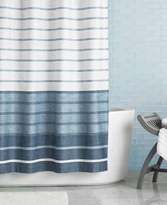 "Hotel Collection Colonnade ""72 x 84"" Extra Long Shower Curtain"
