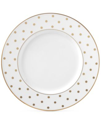 kate spade new york Larabee Road Gold Bone China Accent Plate