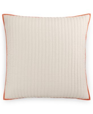 Hotel Collection Textured Lattice Linen Quilted European Sham, Only at Macy's