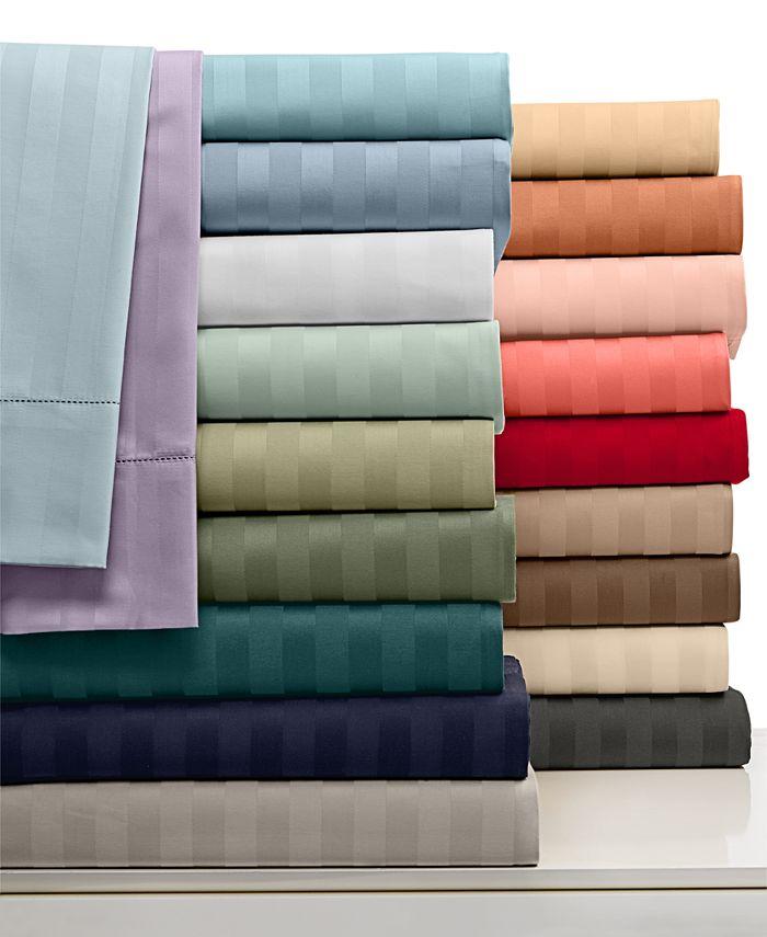Charter Club - Stripe 500 Thread Count Twin Sheet Set