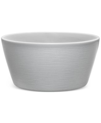 Noritake Gray On Gray Swirl Porcelain Soup/Cereal Bowl