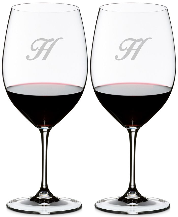 Riedel - Vinum Monogram Collection Crystal 2-Pc. Script H Cabernet/Merlot Wine Glasses