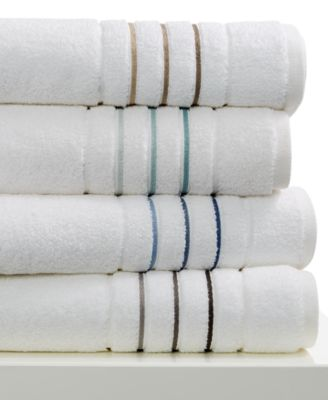 "Hotel Collection Ultimate Borderline 30"" x 56"" Bath Towel, Only at Macy's"