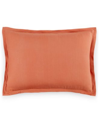 Hotel Collection Linen Poppy Standard Sham, Only at Macy's
