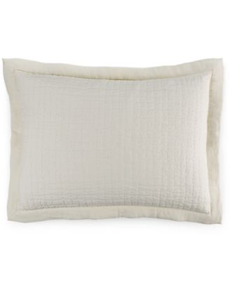 Hotel Collection Linen Poppy Quilted Standard Sham, Only at Macy's