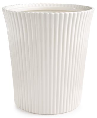 Martha Stewart Collection Ceramic Scallop Wastebasket, Only at Macy's