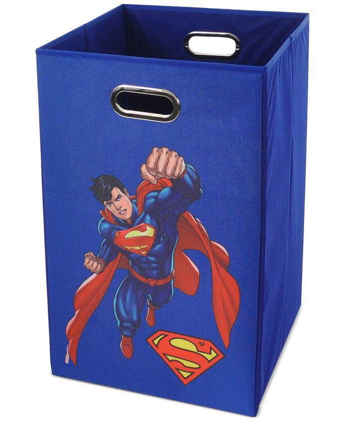 Modern Littles - Superman Blue Folding Laundry Basket
