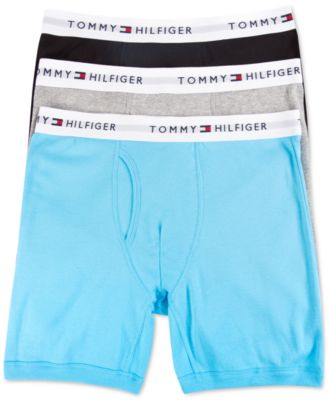 Image of Tommy Hilfiger Cotton Boxer Briefs, 3 Pack - 09TE001