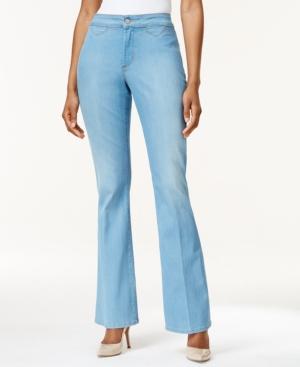 Nydj Petite Farrah Flare-Leg Palm Bay Wash Jeans