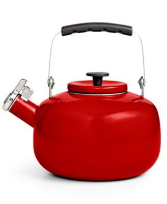 Martha Stewart Collection 2-Qt. Enamel on Steel Tea Kettle, Only at Macy's