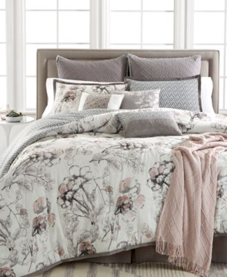 Kelly Ripa Home Pressed Floral 10-Pc Queen Comforter Set, Only at Macy's