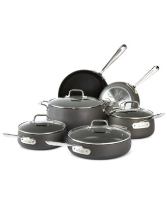 All-Clad Hard-Anodized 10-Piece Cookware Set, Only at Macy's