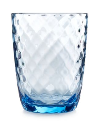 Home Design Studio Blue Acrylic Drinkware Collection Double Old-Fashioned Glass, Only at Macy's