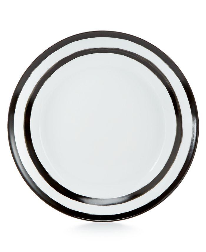 Martha Stewart Collection - Whim Dinnerware Collection Black Dinner Plate