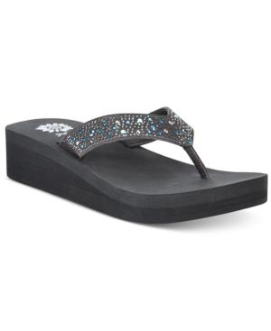 Yellow Box Africa Rhinestone Platform Flip Flops Women's Shoes