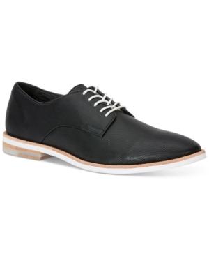 Calvin Klein Men's Agusto Diamond Leather Oxford Shoes Men's Shoes