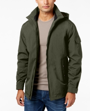 Weatherproof Men's Detachable-Hood Full-Zip Stand-Collar Jacket plus size,  plus size fashion plus size appare