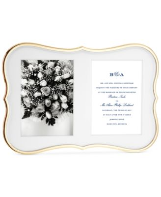 kate spade new york Crown Point Collection Gold-Plated Double Invitation Frame