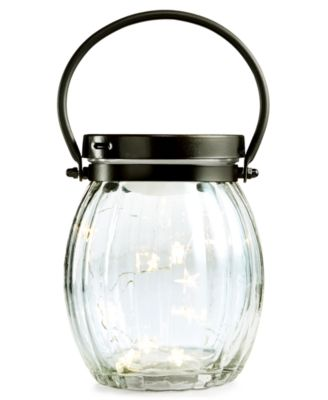 Home Design Studio Mason Jar with LED Starry Lights, Only at Macy's