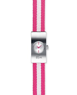 Macy*s - Jewelry & Watches - Lacoste Women's Striped-Strap Watch :  pink timepiece sporty wrist