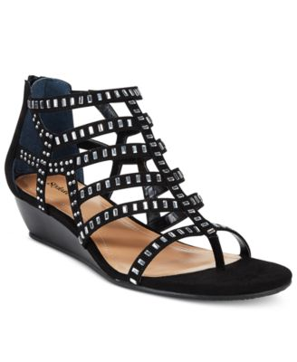 Image of Style & Co. Bradey Gladiator Wedge Sandals, Only at Macy's