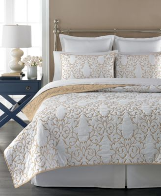 Martha Stewart Collection Chateau Neutral Full/Queen Quilt, Only at Macy's