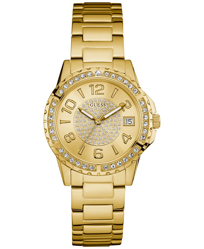 GUESS - Women's Gold-Tone Stainless Steel Bracelet Watch 36mm U0779L2