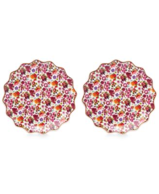 Lenox Melli Mello Isabelle Floral Collection 2-Pc. Tidbits Plates Set, Exclusively available at Macy®s