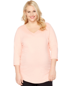 Motherhood Maternity Plus Size Ruched V-Neck Top plus size,  plus size fashion plus size appare