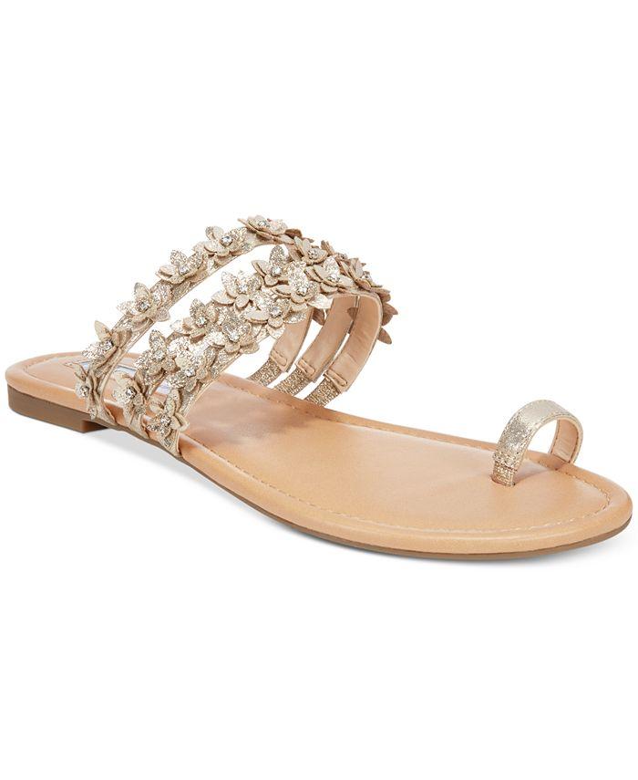 INC International Concepts - Women's Linaa Embellished Flat Sandals